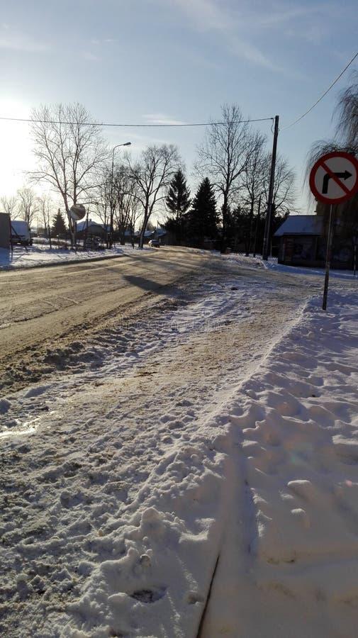 Invierno en Polonia foto de archivo
