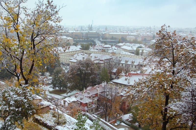 Invierno en Praga fotografía de archivo libre de regalías