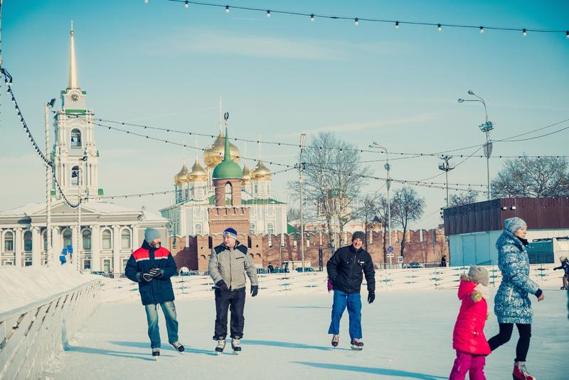 Invierno en Rusia foto de archivo