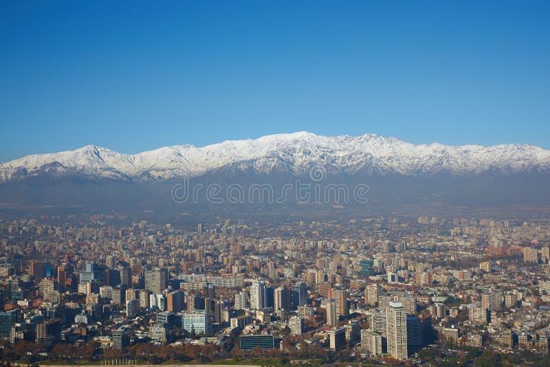 Invierno en Santiago fotografía de archivo
