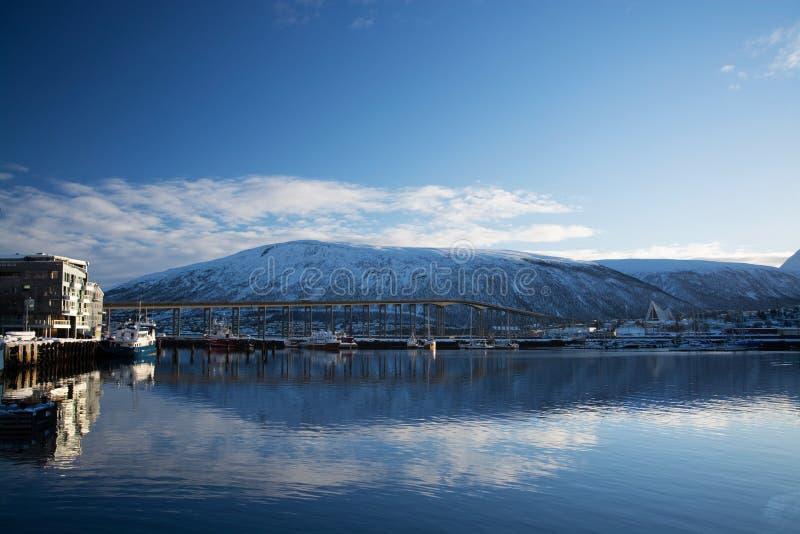 Invierno en Tromsoe, Noruega fotografía de archivo libre de regalías