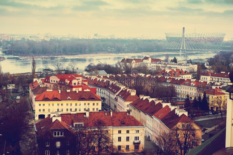 Invierno en Varsovia foto de archivo