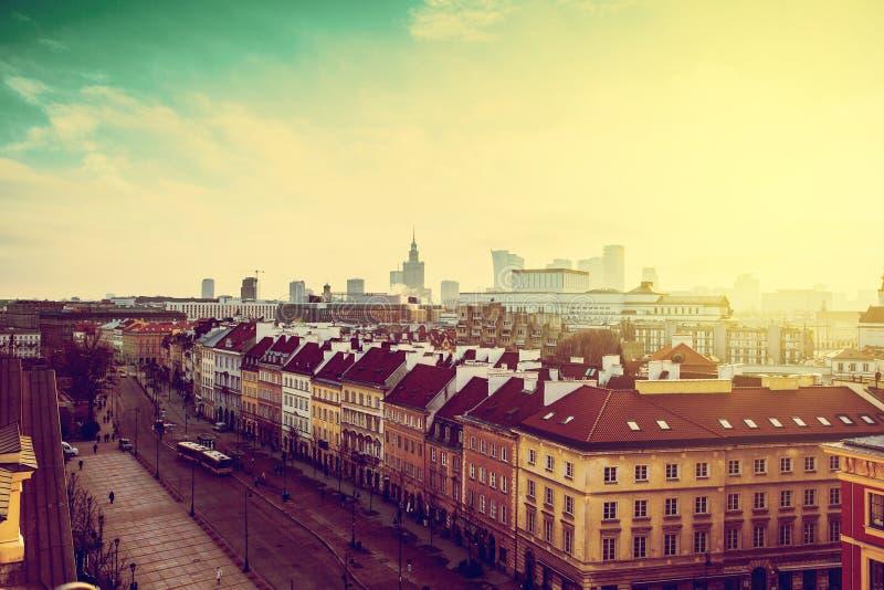 Invierno en Varsovia imagen de archivo