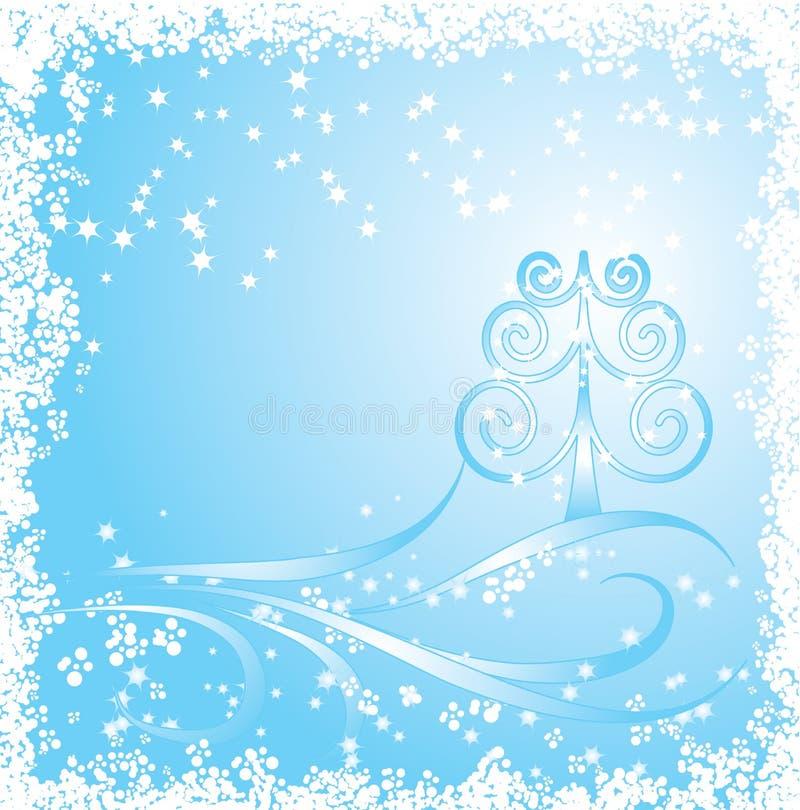 Invierno, fondo de la Navidad ilustración del vector