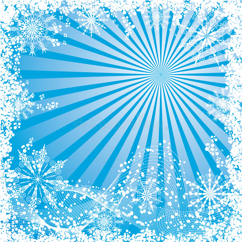Invierno, fondo de la Navidad, vector stock de ilustración
