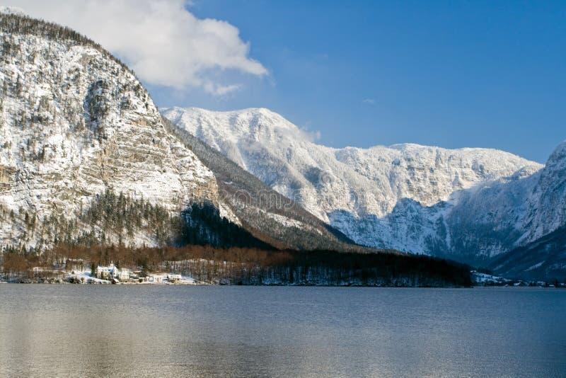 Invierno frío y nevoso en la montaña Austria imagen de archivo libre de regalías