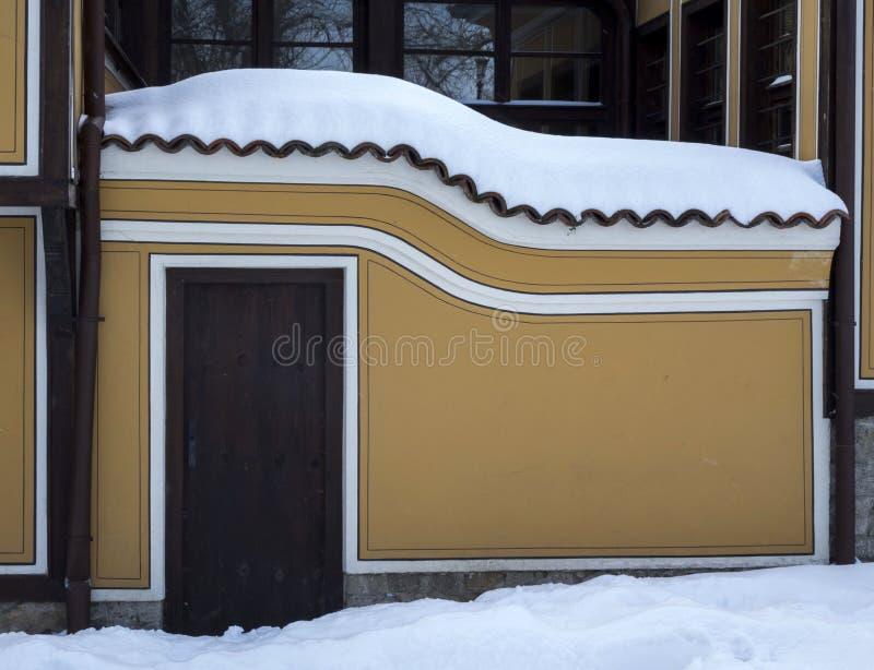Invierno hermoso en la ciudad vieja de Plovdiv Bulgaria fotos de archivo libres de regalías