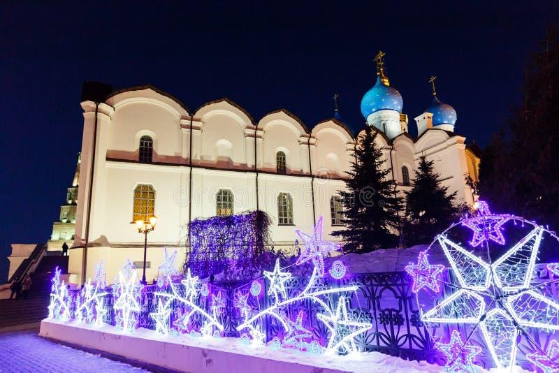 Invierno Kazán el Kremlin foto de archivo