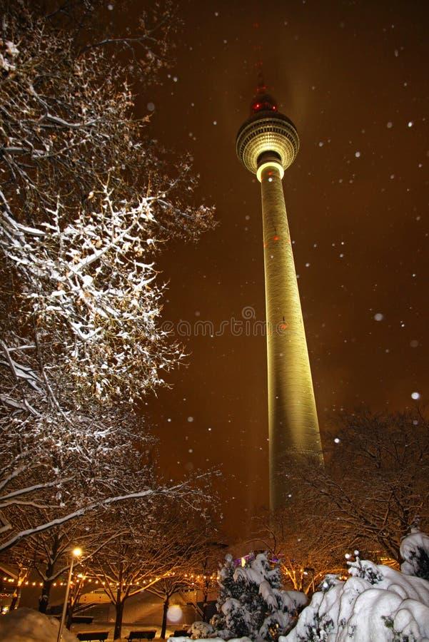 Invierno Nevado en Berlín, Alemania imagen de archivo libre de regalías