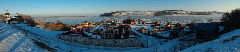 Invierno, república de Kazán del sviyazhsk de Tartaristán imagen de archivo libre de regalías