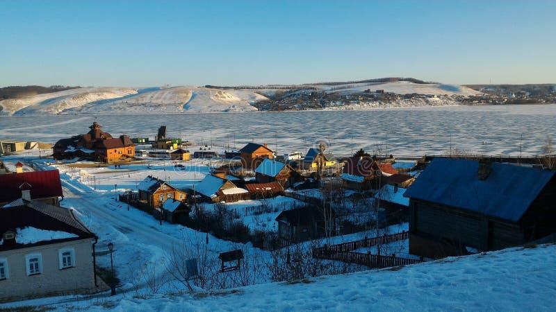 Invierno, república de Kazán del sviyazhsk de Tartaristán fotografía de archivo