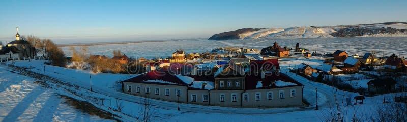 Invierno, república de Kazán del sviyazhsk de Tartaristán imagen de archivo