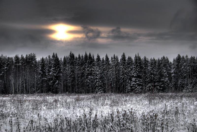 Invierno sunset-2 imagen de archivo