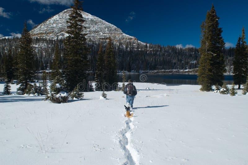 Invierno temprano en las montañas de Uinta - lago largo fotos de archivo