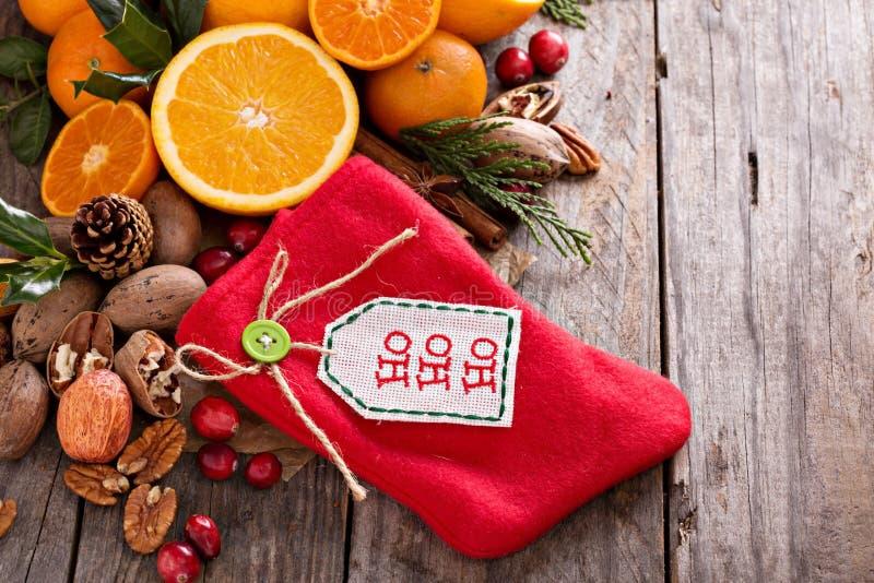 Invierno y de la Navidad todavía de los ingredientes vida fotos de archivo libres de regalías