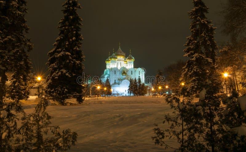 Invierno Yaroslavl de la noche fotos de archivo libres de regalías