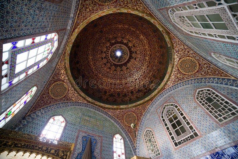 Invigd kammare av Murat III den utsmyckade inre royaltyfri bild