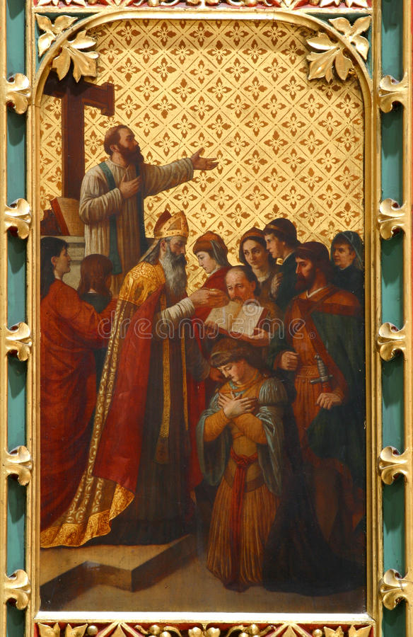 Invigning av den första biskopen av Zagreb arkivfoton