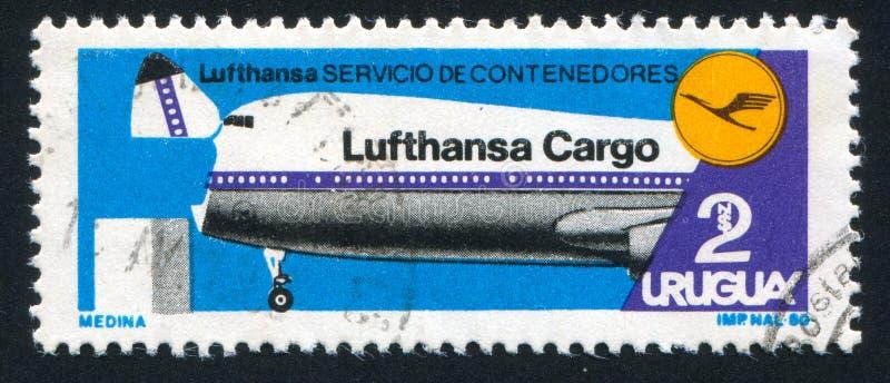 Invigning för Lufthansa Cargo behållareservice arkivfoto
