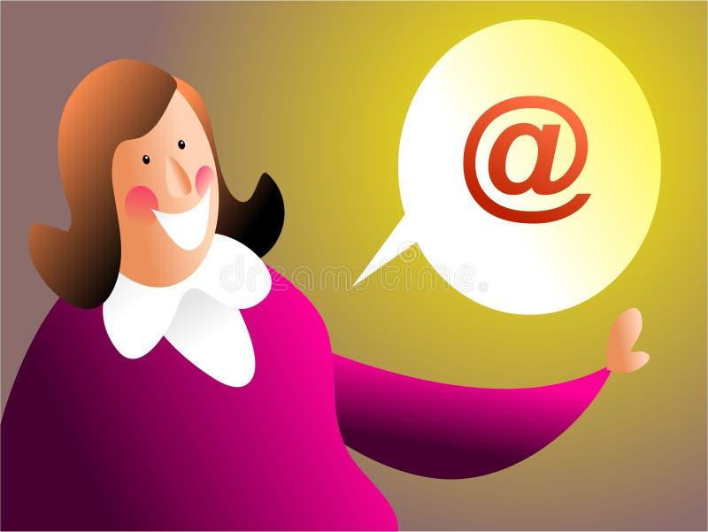 Inviilo con la posta elettronica illustrazione di stock