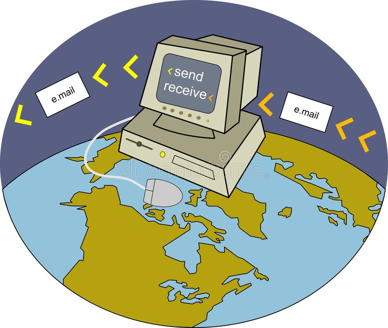 Invio con la posta elettronica illustrazione di stock