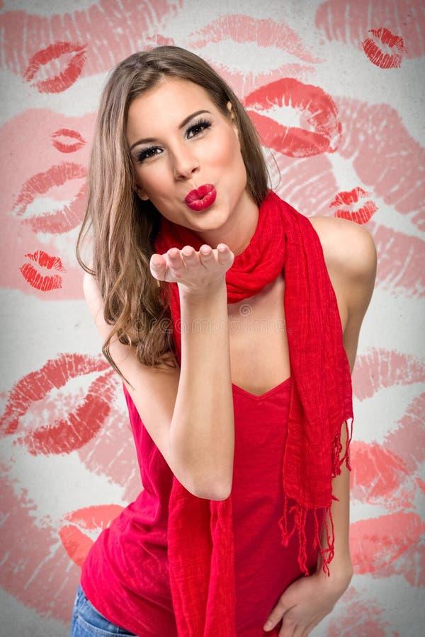 Invio del bacio immagine stock libera da diritti