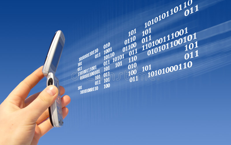 Invio di SMS immagine stock libera da diritti