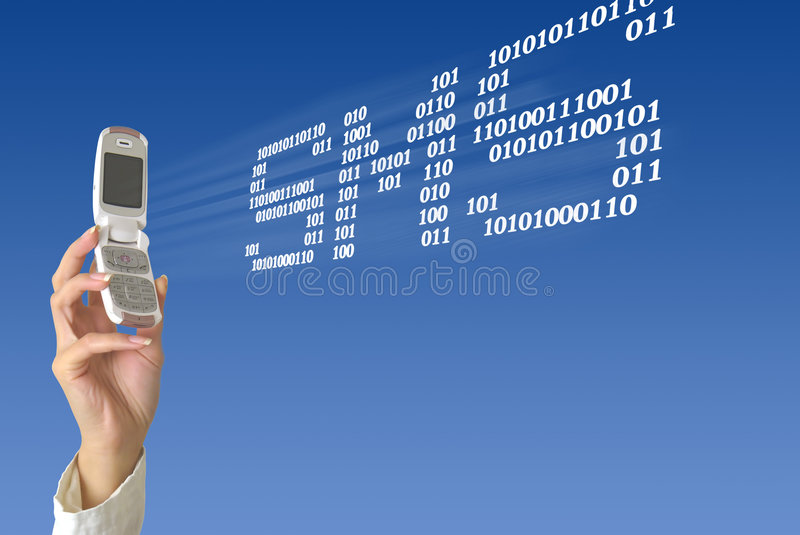 Invio di SMS illustrazione di stock