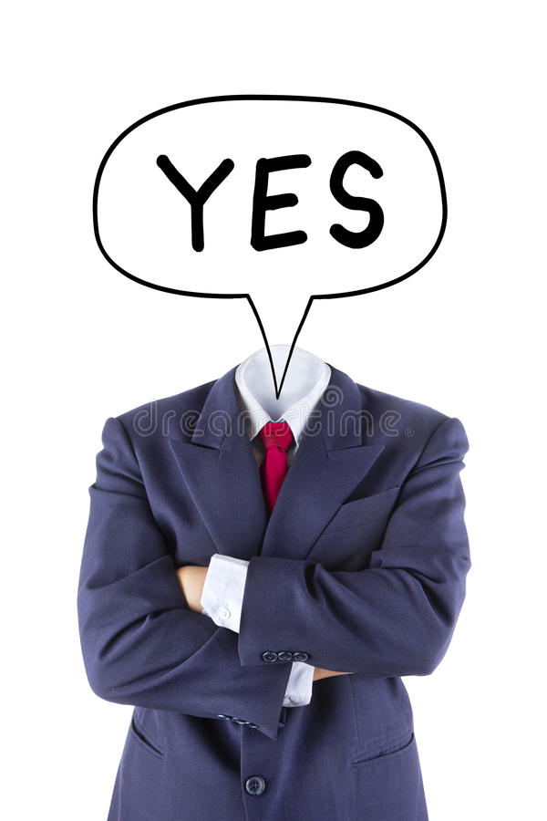 Free Invisible Businessman Say Yes Stock Image - 38776561