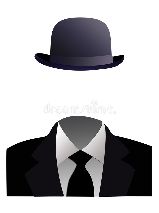 Invisible man concept stock photography