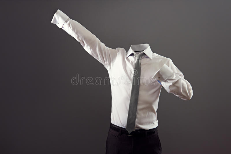 Invisible man in formal wear royalty free stock images
