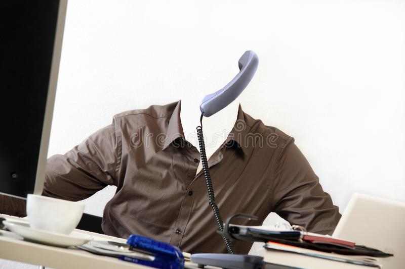 Invisible man in his office royalty free stock photos