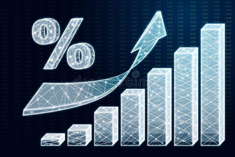 Invista e conceito do stats ilustração do vetor
