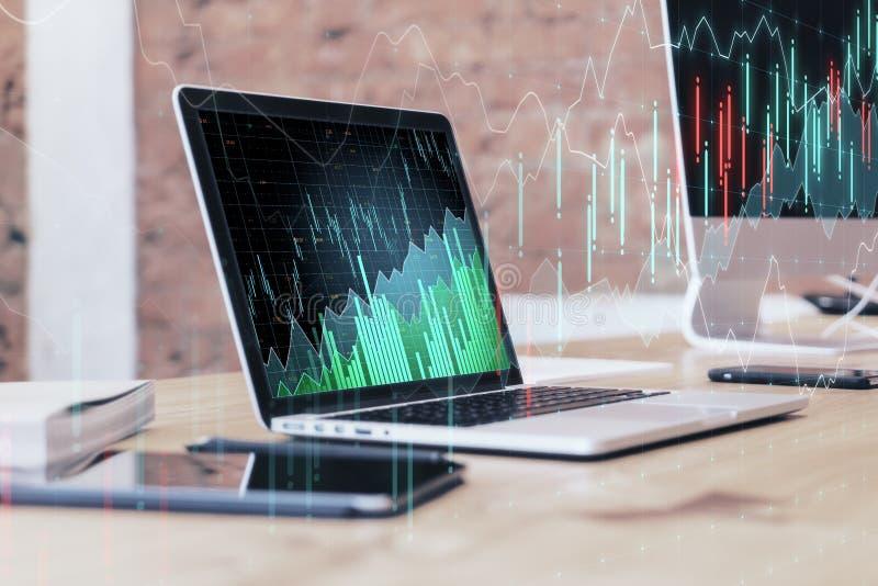 Invista e financie o conceito ilustração stock
