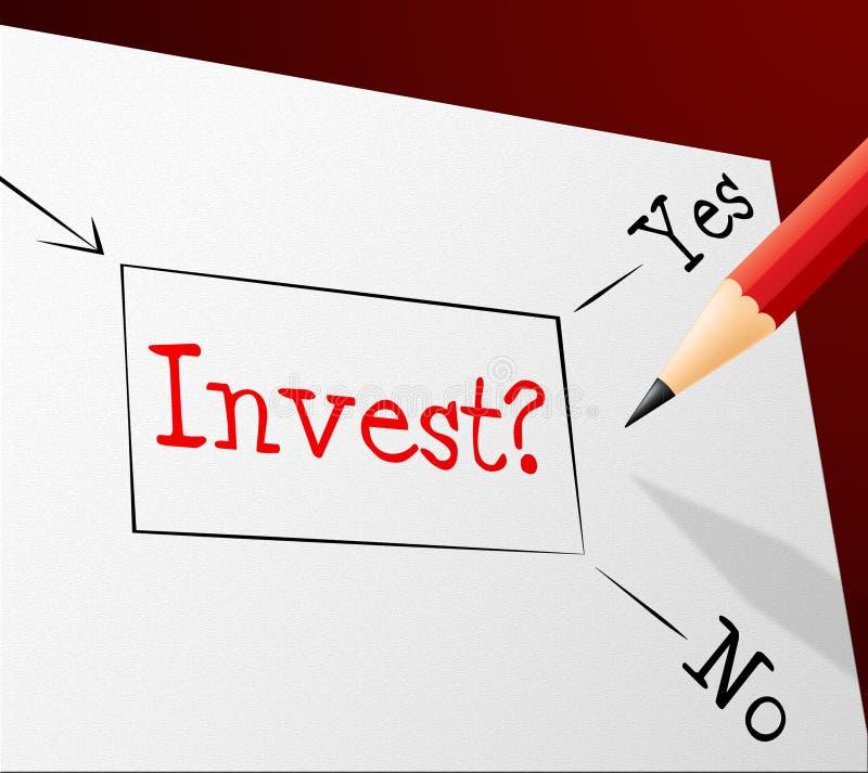 Invista mostras bem escolhidas retorno sobre o investimento e alternativa ilustração do vetor