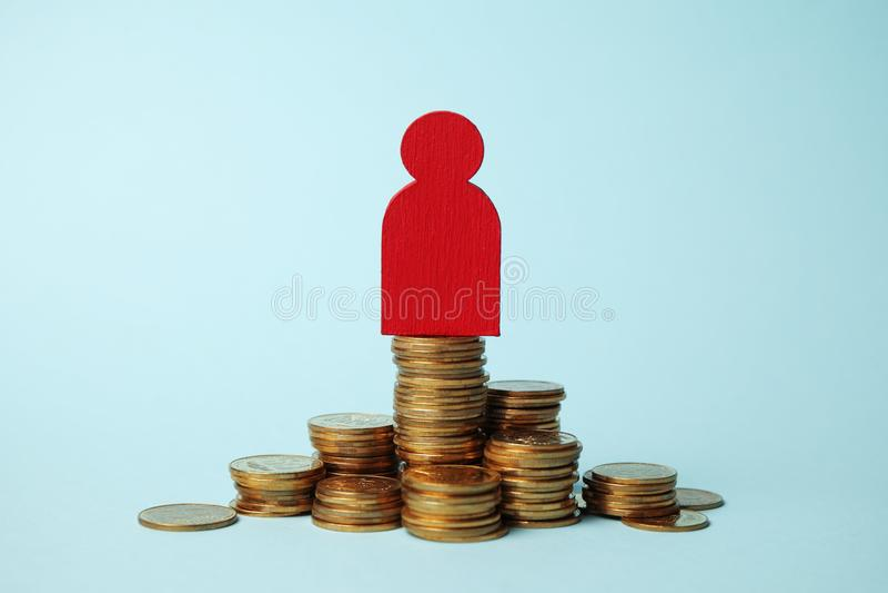 Invista na pens?o, pagamento de dinheiro Salvar o dinheiro Aposentadoria do crescimento fotos de stock