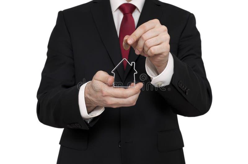 Invista no conceito dos bens imobiliários fotografia de stock royalty free