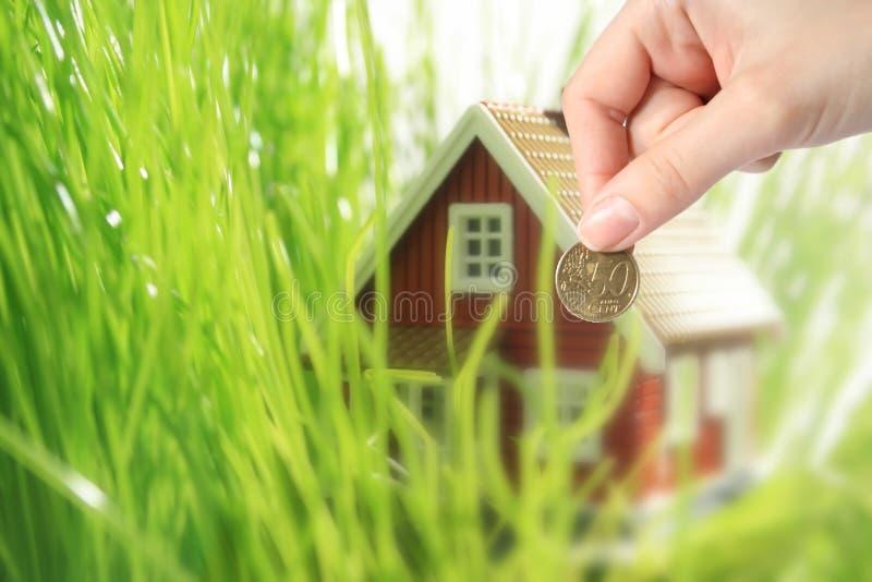 Invista no conceito dos bens imobiliários. fotografia de stock royalty free