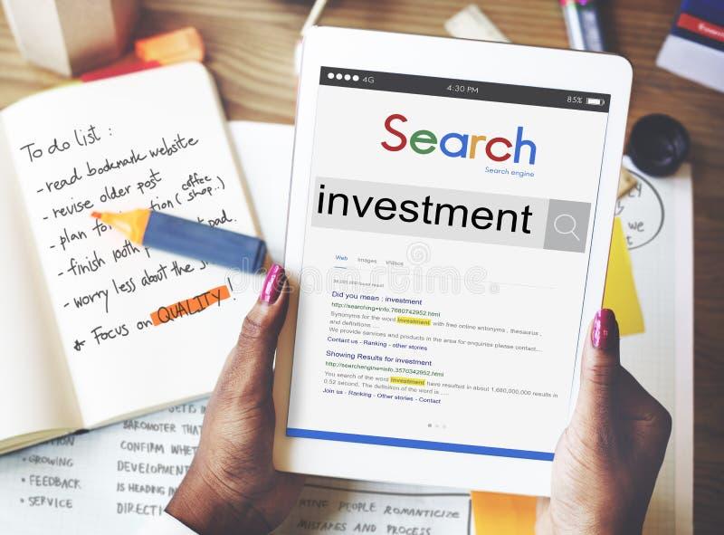 Invista o conceito da economia do rendimento do lucro do investimento foto de stock