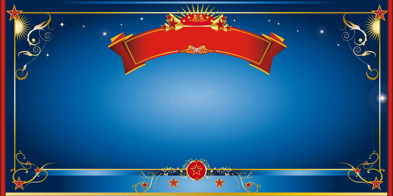 Invitación azul de la noche stock de ilustración