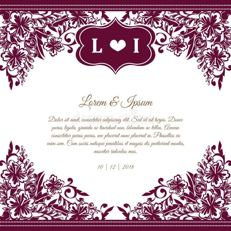 Invitación de boda ilustración del vector