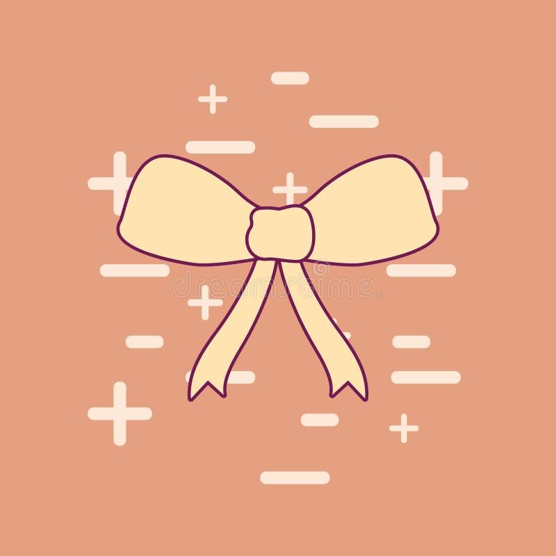 Invitación de boda con la cinta del arco ilustración del vector