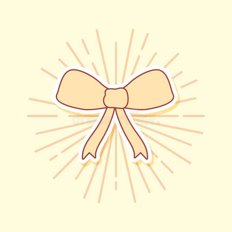 Invitación de boda con la cinta del arco stock de ilustración