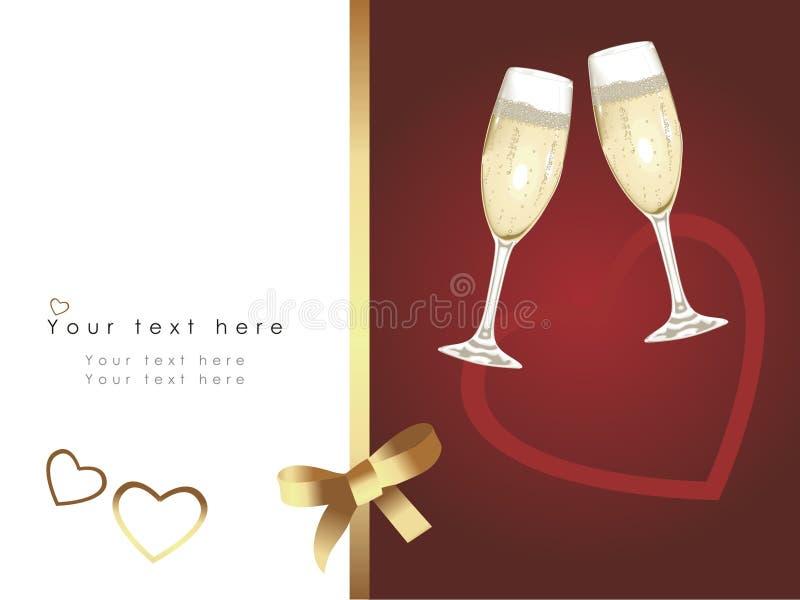 Invitación de boda hermosa ilustración del vector