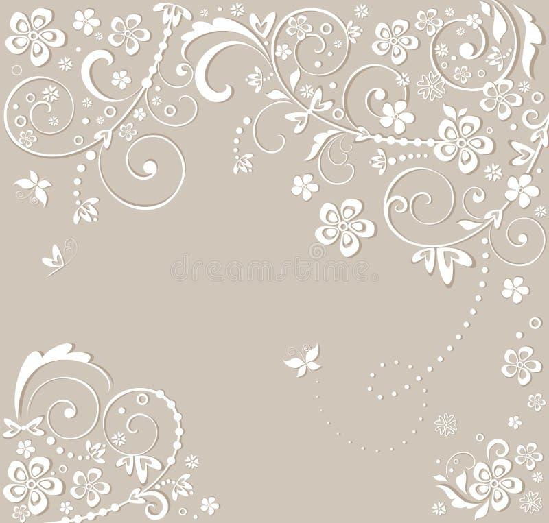 Invitación de boda hermosa stock de ilustración