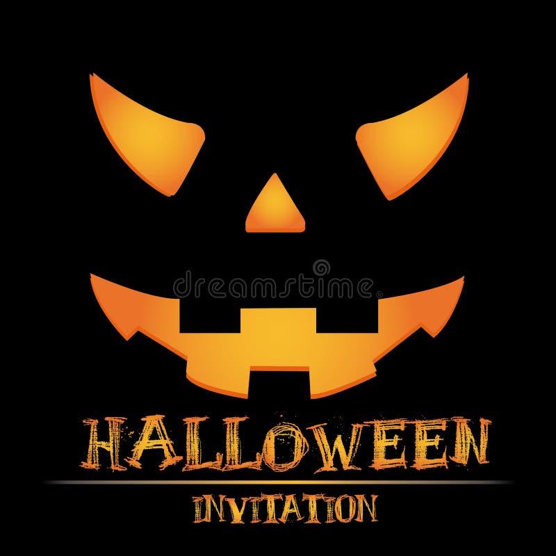 Invitación de Halloween ilustración del vector