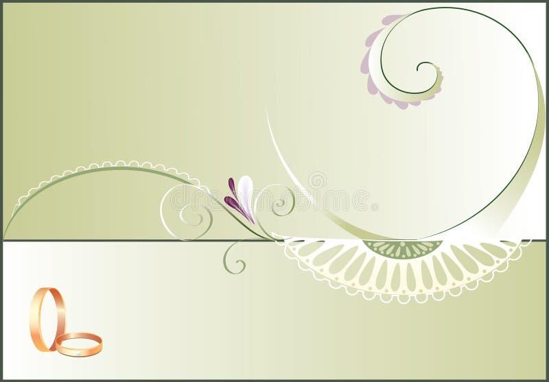 Invitación de la boda ilustración del vector