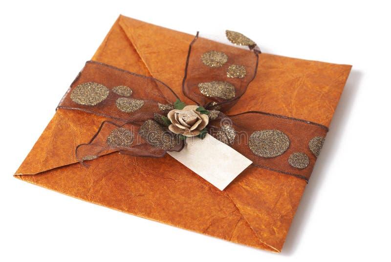 Invitación de la boda fotografía de archivo libre de regalías