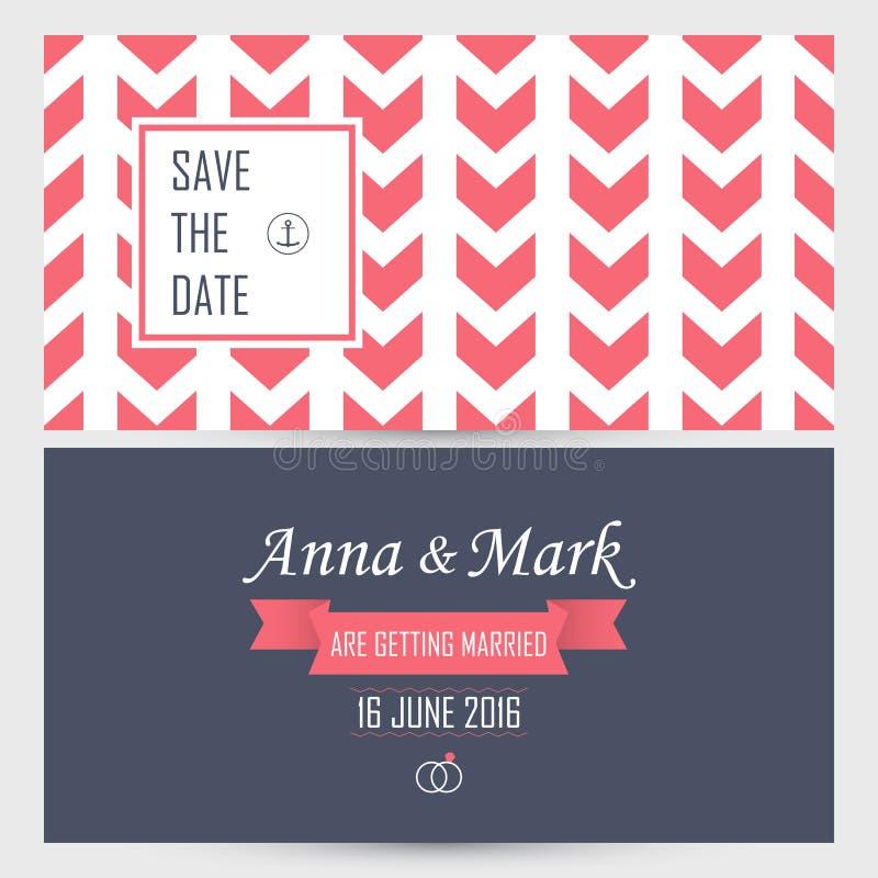 Invitación de la boda Ilustración del vector libre illustration