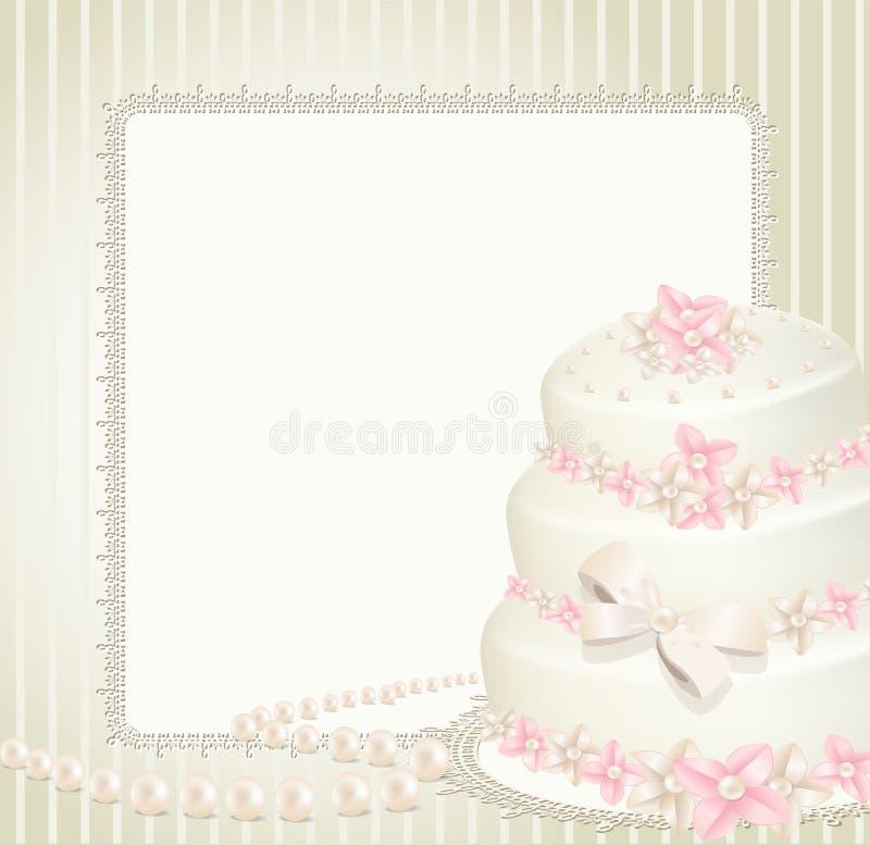 Invitación de la boda, tarjeta de felicitación libre illustration